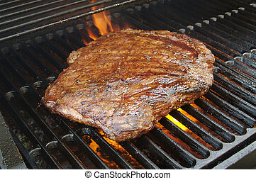 Succulent Flank Steak BBQ - Succulent Flank Steak on the BBQ