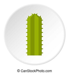 Succulent in flower pot icon circle