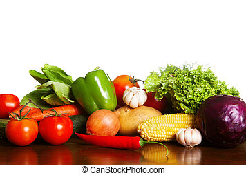 Succulent Vegetables On Table