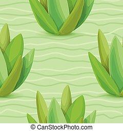Succulents seamless pattern
