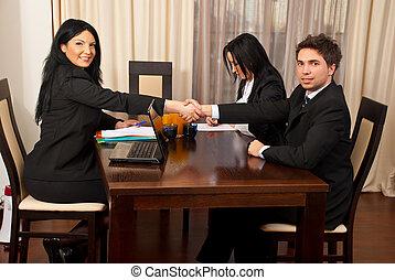 sucedido, entrevista, trabalho