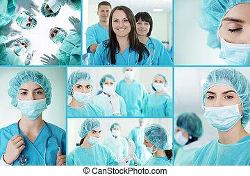 sucedido, equipe médica