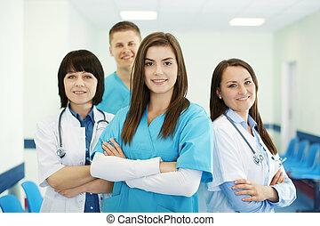 sucedido, equipe, médico