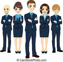 sucedido, equipe negócio