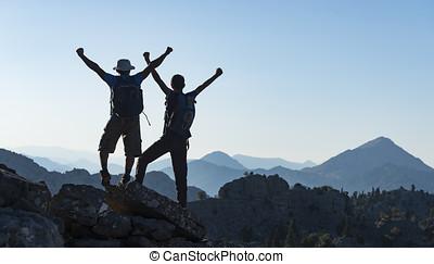sucedido, escalar, glória