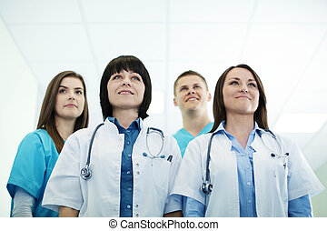 sucedido, médico, equipe