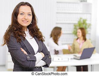 sucedido, mulher negócio