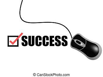 sucesso, com, rato
