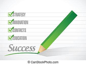 sucesso, confira mark, ilustração, desenho
