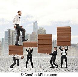 sucesso, de, trabalho equipe