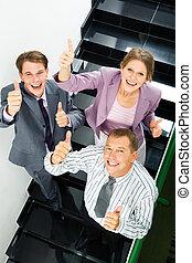 sucesso, em, negócio