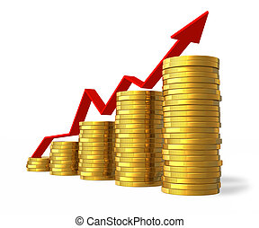sucesso financeiro, conceito
