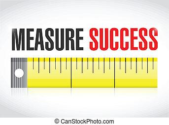 sucesso, ilustração, medida