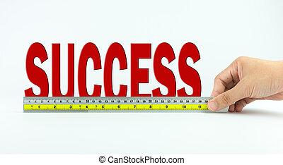 sucesso, medida