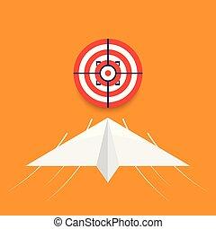 sucesso, negócio, meta, conceito