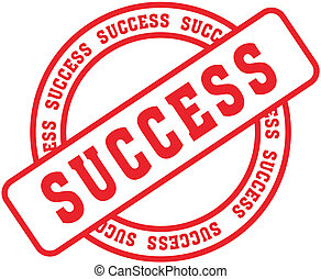 sucesso, palavra, stamp3