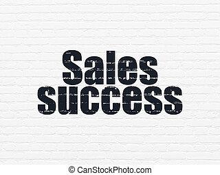 sucesso, parede, marketing, vendas, fundo, concept: