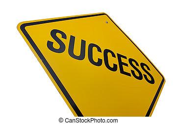 sucesso, sinal estrada