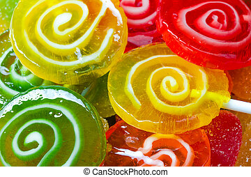 sucette, coloré, bonbons