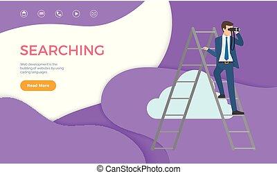 suchen, webentwicklung, website, gebrauchend, kodierung