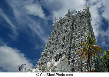 Suchindram temple dedicated to the gods Shiva, Vishnu and...