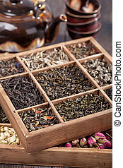suchy, herbata, asortyment