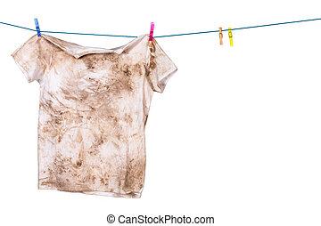 sucio, camisa