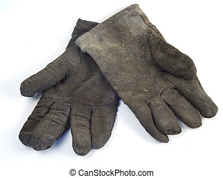 sucio, guantes del trabajo