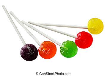 Sucker Lollipops - Sucker lollipops in different colors...