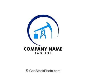 Sucker rod pump icon logo for oil and gas industry