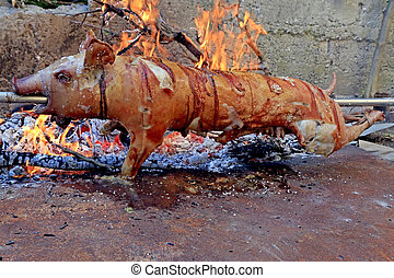 Suckling pig roasted