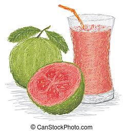 suco, goiaba, fruta