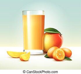 suco, kumquat, manga