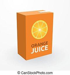 suco laranja, caixa papelão