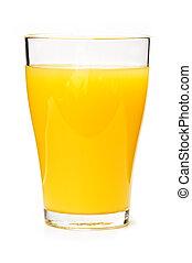 suco laranja, em, vidro