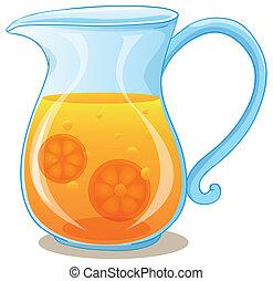 suco laranja, jarro