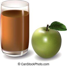 suco, maçã