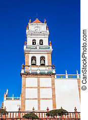 Sucre Cathedral (Metropolitan Cathedral of Sucre) is located on Plaza 25 de Mayo square in Sucre, Bolivia.
