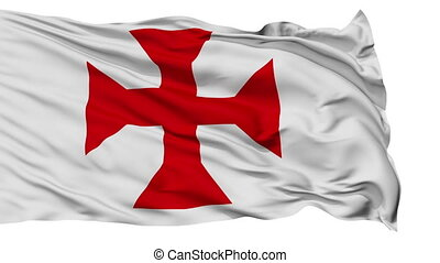 Sucre City Isolated Waving Flag