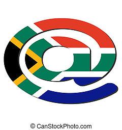 sud-africain, adresse électronique, symbole