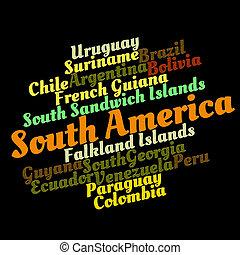 sud americano, paesi