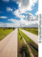 sud, n2, national, autoroute, africaine