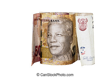 sud, notes, Nelson, africaine, projection, banque, mandela...