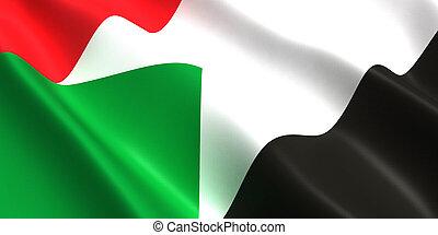 Sudan flag 3d