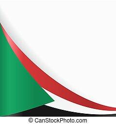 Sudan flag background. Vector illustration. - Sudan flag...