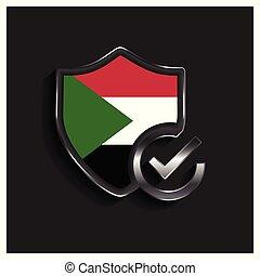 Sudan Flag design vector