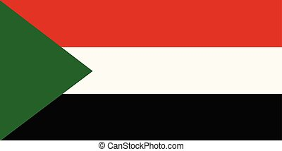 Sudan flag vector - Vector illustration Sudan flag icon...