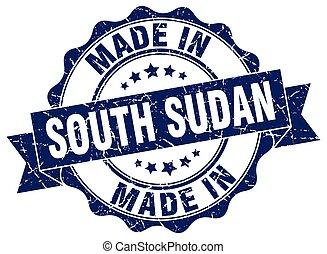 sudan, gjord, runda, syd, försegla