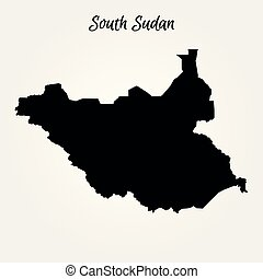 sudan, karta, syd