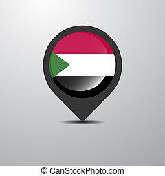 Sudan Map Pin